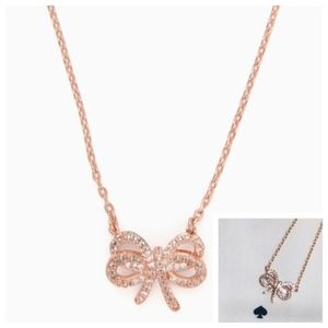 """NWT! KATE SPADE RoseGold """"Bow Meets Girl"""" Necklace"""
